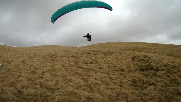 John Westall getting in top landing practice. No ....it wasn't exactly shorts weather.