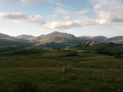 The Scafell range late on the Sunday evening.