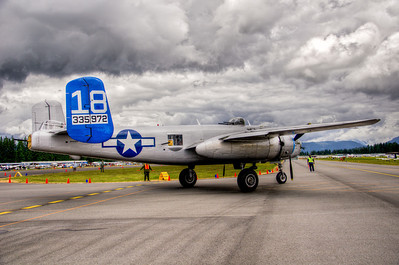 """By winter of 2007-08 the restoration work was completed and the plane, after 27 years, was ready to once again to once the FAA certified the paperwork for flight. The Arizona Wing""""s B-25 will be the only World War II combat plane of the 57th Bomb Wing that has been fully restored back to flying status. Lots of Thanks has to be given to all those Arizona Wing members, past and present, who, over the past 27 years, worked on this once sorry looking B-25J to bring it back to an excellent looking fully restored World War II plane and is once again flying again."""