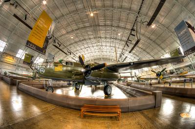 North American B-25J Mitchell, fisheye shot