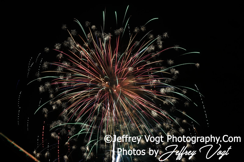 Fourth of July Holiday Fireworks, Carnival Grounds, Mt. Airy Maryland, 7/3/2019