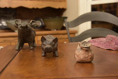 Center Pig in Focus