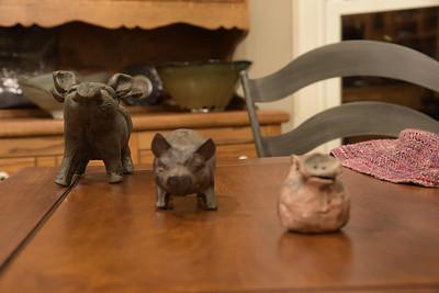 Left Pig in Focus