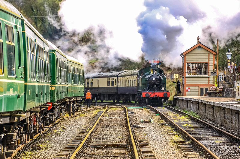 Steam Train arriving at Norchard Station