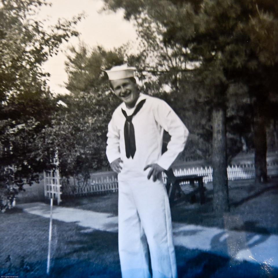 Willis in his Navy uniform