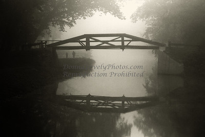 "Foggy Washington Crossing Pedestrian Bridge, New Hope, PA in  2012 Phillips' Mill Photographic Exhibition ""Photo Review Magazine"" special web gallery competition 2011 & New Hope Art League 2010 Juried Show"