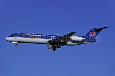 British Midland Airways-BM Fokker F.28 Mk. 0100 G-BVJA (msn 11489) LHR (Richard Vandervord). Image: 907739.