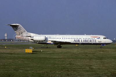 Air Liberte Fokker F.28 Mk. 0100 F-GIOI (msn 11433) (Libres - Human Rights) LGW (Richard Vandervord). Image: 932287.