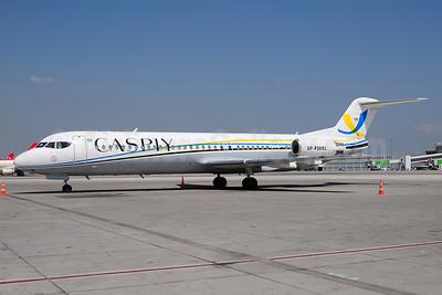 Caspiy Fokker F.28 Mk. 0100 UP-F1001 (msn 11384) AYT (Ton Jochems). Image: 927042.