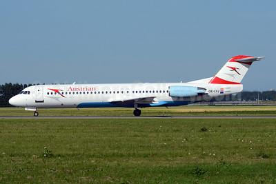 Austrian Airlines (Tyrolean Airways) Fokker F.28 Mk. 0100 OE-LVJ (msn 11359) AMS (TMK Photography). Image: 920191.