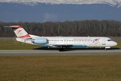 Austrian Arrows-Tyrolean Airways Fokker F.28 Mk. 0100 OE-LVN (msn 11367) GVA (Paul Denton). Image: 920193.