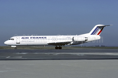 Air France by Proteus Airlines Fokker F.28 Mk. 0100 F-GPNL (msn 11325) CDG (Christian Volpati). Image: 950579.