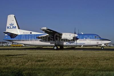 KLM Cityhopper Fokker F.27 Mk. 050 (Fokker 50) PH-KVC (msn 20191) LHR (Richard Vandervord). Image: 905805.