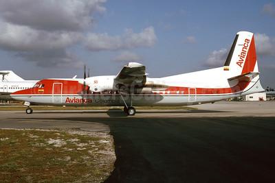 Avianca Colombia Fokker F.27 Mk. 050 PH-LXW (HK-4487) (msn 20266) MIA (Bruce Drum). Image: 104109.