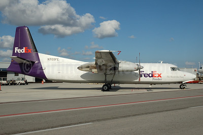 FedEx Feeder-Mountain Air Cargo Fokker F.27 Mk. 500 (F) N705FE (msn 10367) MIA (Bruce Drum). Image: 100415.