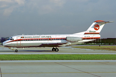 Biman Bangladesh Airlines Fokker F.28 Mk. 4000 S2-ACH (msn 11172) DMK (Perry Hoppe). Image: 911464.