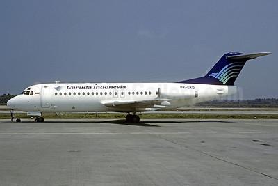 Garuda Indonesian Airways Fokker F.28 Mk. 4000 PK-GKD (msn 11158) (Jacques Guillem Collection). Image: 909246.