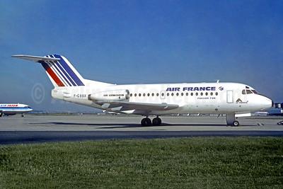 Air France - Air Alsace Fokker F.28 Mk. 1000 F-GBBX (msn 11027) ORY (Christian Volpati). Image: 950297.