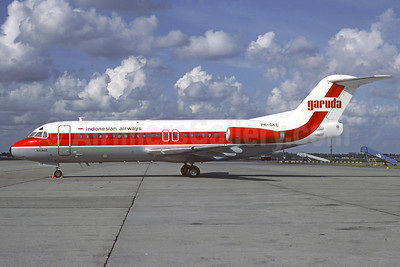 Garuda Indonesian Airways Fokker F.28 Mk. 4000 PK-GKE (msn 11160) AMS (Jacques Guillem Collection). Image: 909247.