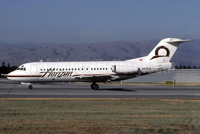 Horizon Air Fokker F.28 Mk. 4000 N476US (msn 11224) SJC (Jacques Guillem Collection). Image: 909238.