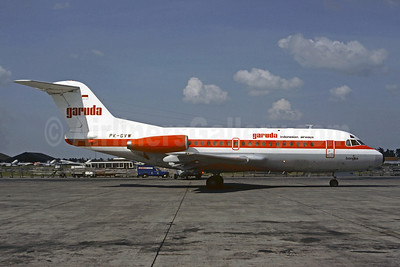 Garuda Indonesian Airways Fokker F.28 Mk. 1000 PK-GVW (msn 11106) JKT (Christian Volpati). Image: 907292.