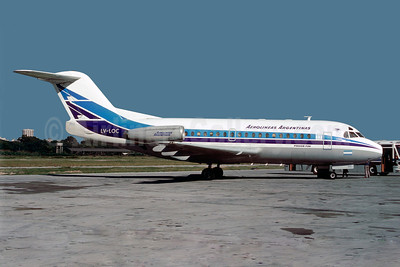 Aerolineas Argentinas Fokker F.28 Mk. 1000 LV-LOC (msn 11083) AEP (Christian Volpati). Image: 922724.
