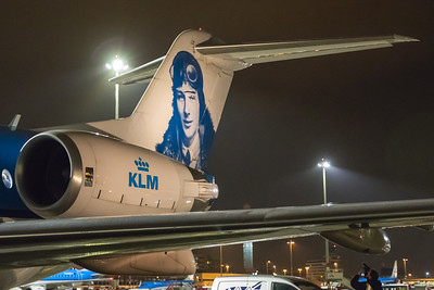 KLM Cityhopper Fokker F70 PH-KZU 10-28-17 11