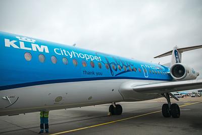 KLM Cityhopper Fokker F70 PH-KZU 10-28-17 2