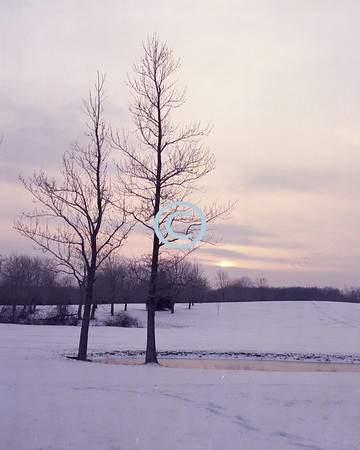 Winter Sunset, Middletown, New Jersey