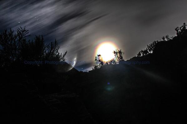 Rainglow Moon on the Rise