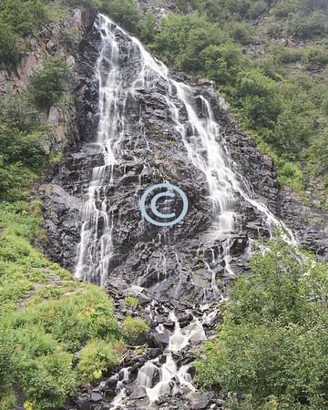 Waterfall, near Valdez, Alaska