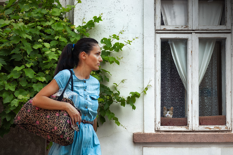 Secret Lives of Girls and Cats | Street Photography Bucharest Romania