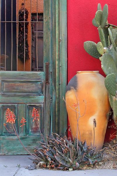 Door on Myers Street in Tucson, AZ