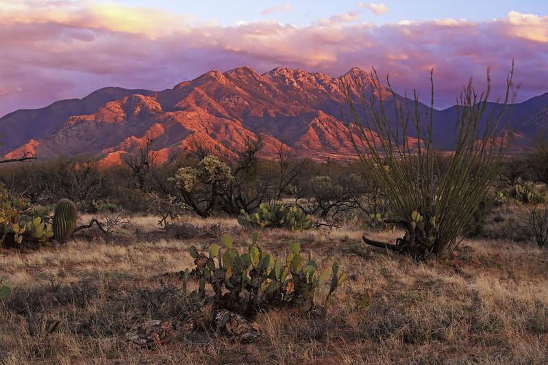 Santa Anita Mountain Sunset