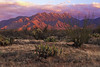 Sunset on the Santa Anita Mountains by Madera Canyon,  AZ: March 8, 2014