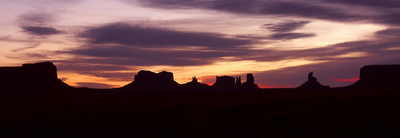 Sunrise at Monument Valley, AZ (March-2009)