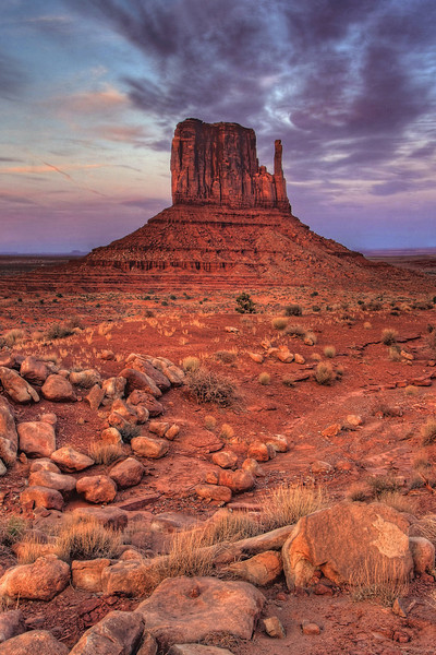 West (Left) Mitten at Monument Valley, AZ  (March 2009)