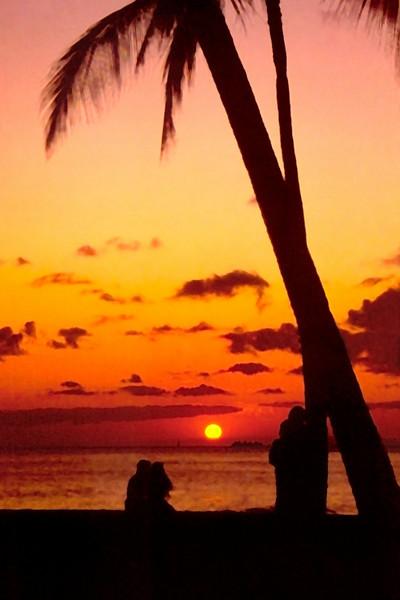 Sunset in Honolulu