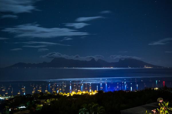 moonlight over Punaauia - Tahiti - 2014