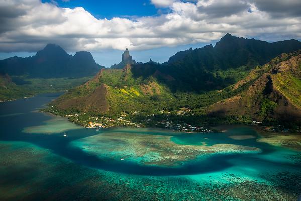 2013 - AERIAL OF MOOREA - FRENCH POLYNESIA
