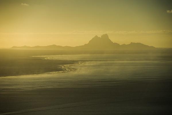 2013 - VIEW OF BORA BORA FROM RAIATEA - LEEWARD ISLANDS - FRENCH POLYNESIA