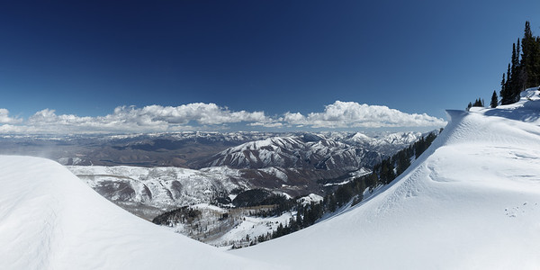 Wasatch Back in the Winter Pano 1x2