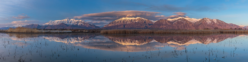 Southern Wasatch Reflection Pano