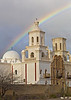 Rainbow over Mission San Xavier del Bac near Tucson, AZ (February, 2013)