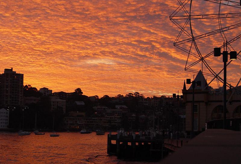 Sunset at N.Sydney, Australia