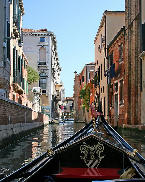 Venice: Riding on the Gondola