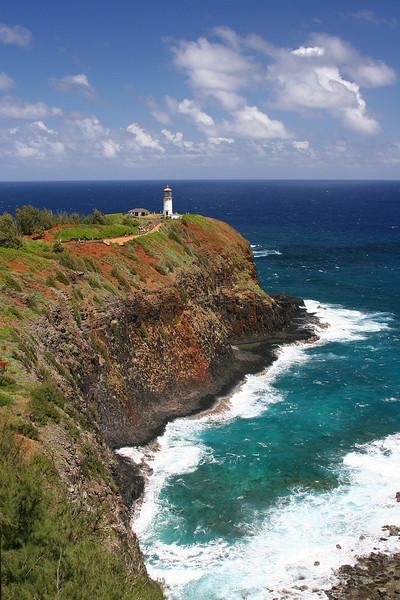 Kilauea Lighthouse in Kauai.  Kilauea Point NWR.