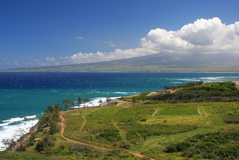 Looking back from the North Shore Drive on Maui