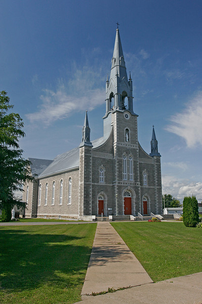 One of the many, many churches in Quebec.  One in every village.