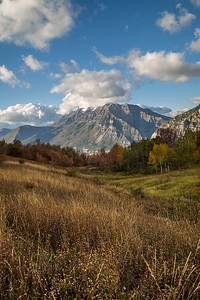 Fall Clouds on Timp Vertical